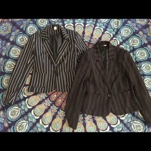 H&M Striped Blazer Set